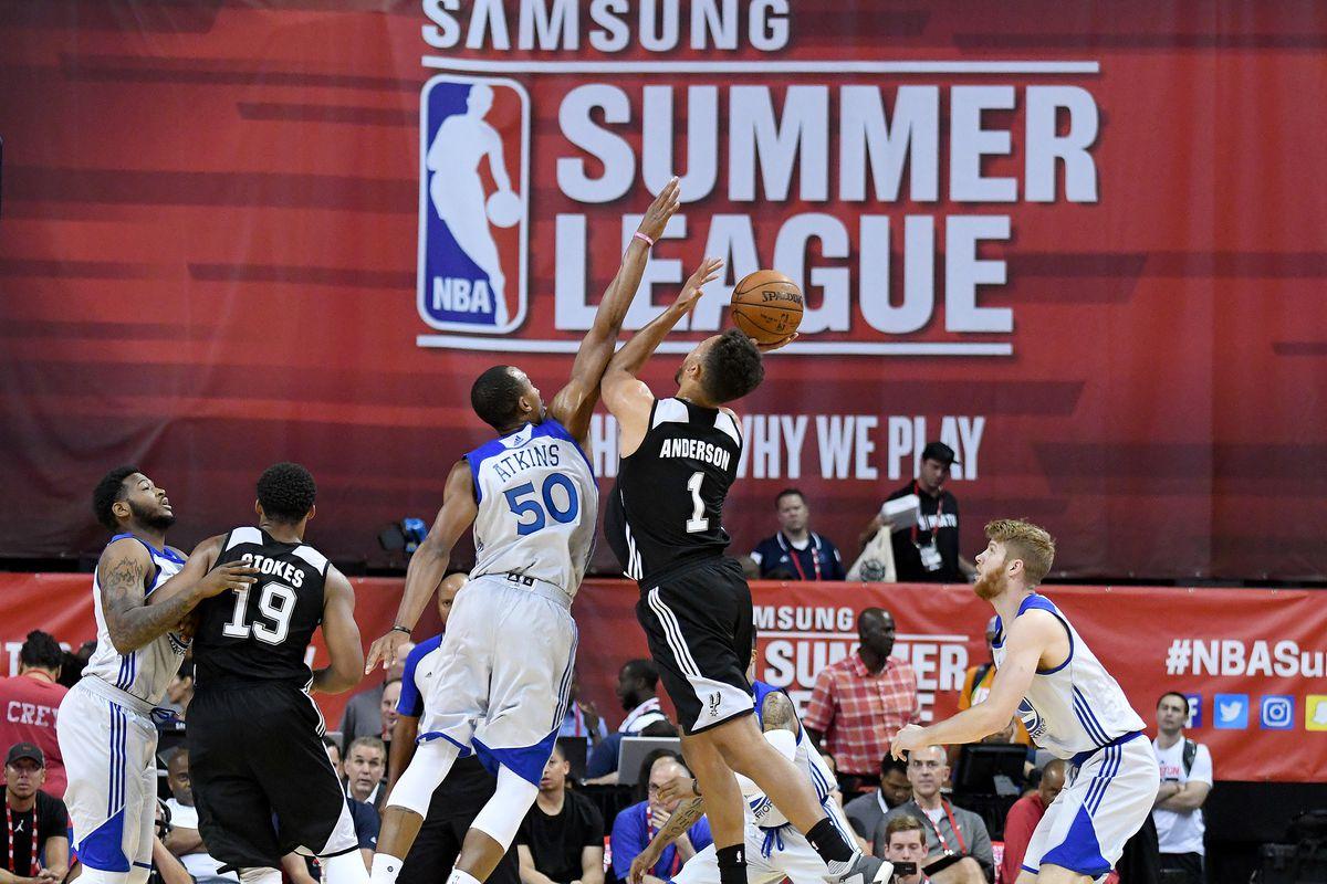 NBA: Summer League-San Antonio Spurs vs Golden State Warriors