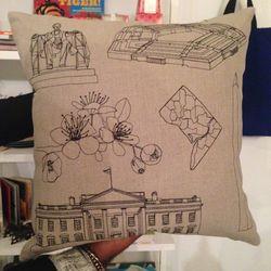 "Handmade K Studio D.C. pillow, $180 at <a href=""https://www.facebook.com/M29Lifestyle"">M29 LIFESTYLE</a>"