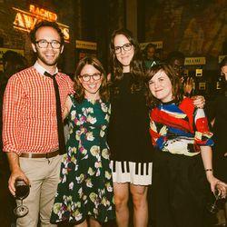 Benjamin Grinspan, Racked Executive Editor Izzy Grinspan, Racked contributor Carlye Wisel, and Cosmopolitan entertainment writer Eliza Thompson