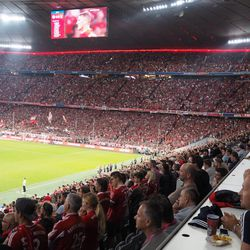 The second half was all about Schweini on the big screen.