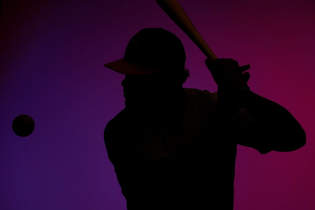 (That's actually Bruce Maxwell's silhouette. Marincov is a righty.)