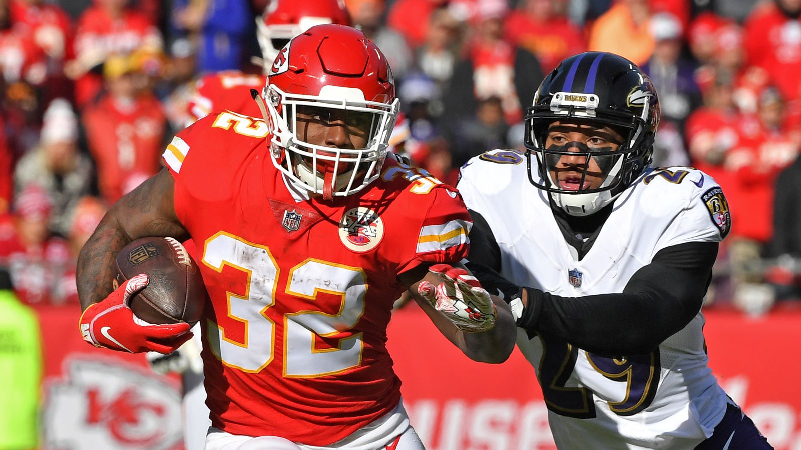 Chiefs-Patriots: Spencer Ware led all Chiefs running backs in playing time