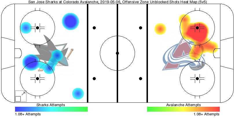San Jose Sharks play in Denver against the Colorado Avalanche during the second round of the 2019 Stanley Cup Playoffs in the NHL