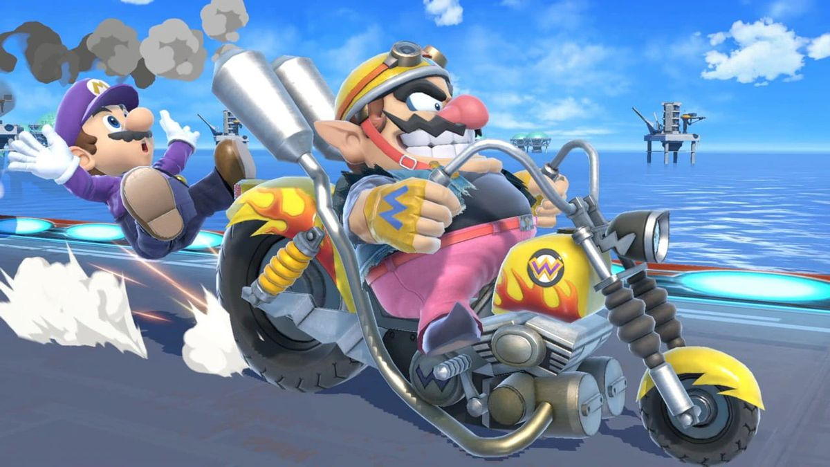 Wario on his motorcycle
