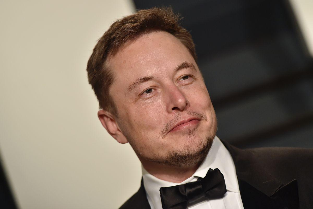 Tesla CEO Elon Musk wearing a tuxedo.