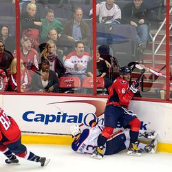 Ovechkin Finishes Check on Brown