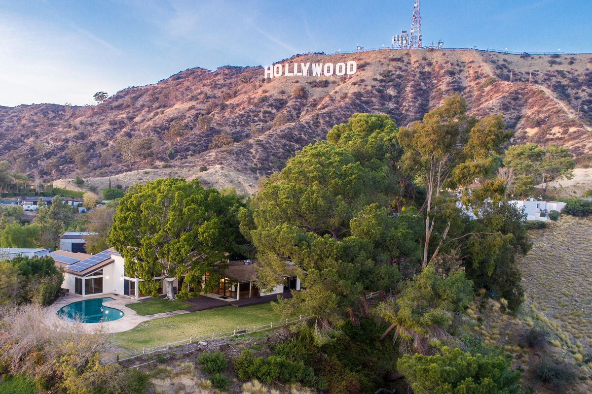 Glassy Midcentury Right Below The Hollywood Sign Asks 3