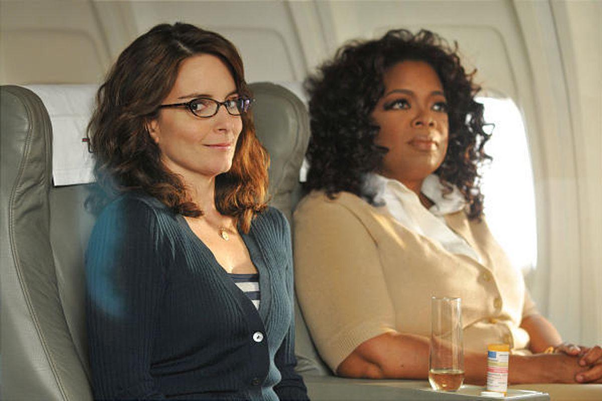 """Tina Fey and Oprah Winfrey on next week's episode of """"30 Rock."""""""