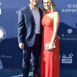 Max Muncy and Kelley Cline at the Blue Diamond Gala.