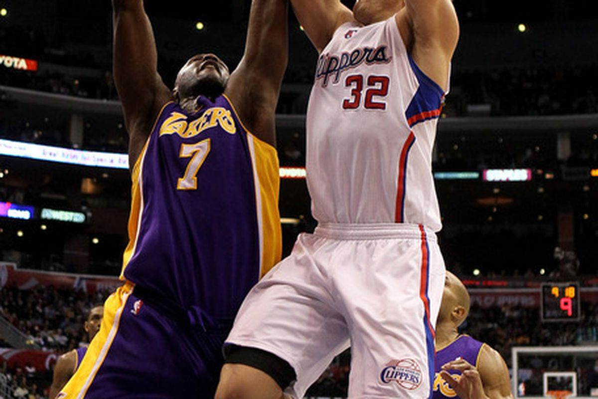 Blake Griffin and the Los Angeles Clippers are the designated home team today at Staples Center as they battle Lamar Odom and the Los Angeles Lakers.