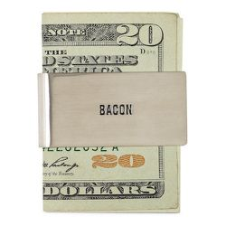 "<strong>Jack Spade</strong> Bacon Money Clip in Silver, <a href=""http://www.jackspade.com/bacon-money-clip/WPRU0141.html?cgid=jackspade-root&dwvar_WPRU0141_color=927#q=money+clip&start=1&cgid=jackspade-root"">$68</a>"
