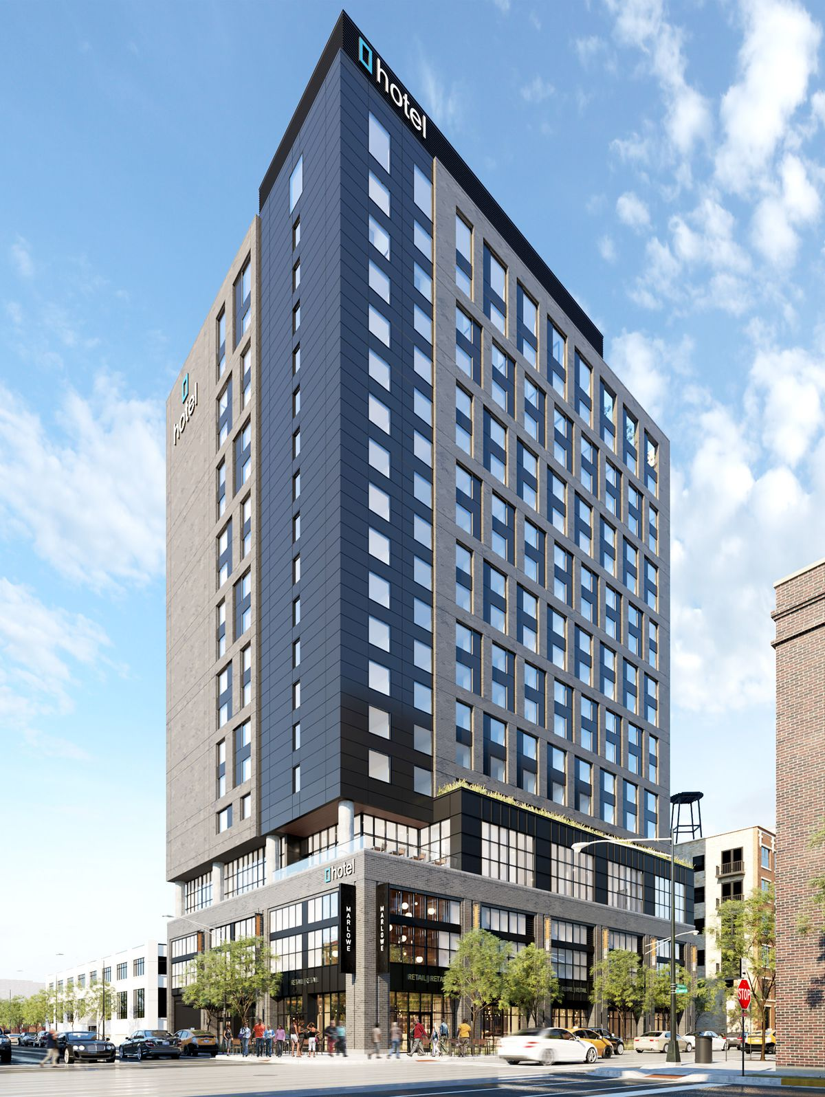 high rise hotel planned near mcdonald s west loop hq. Black Bedroom Furniture Sets. Home Design Ideas
