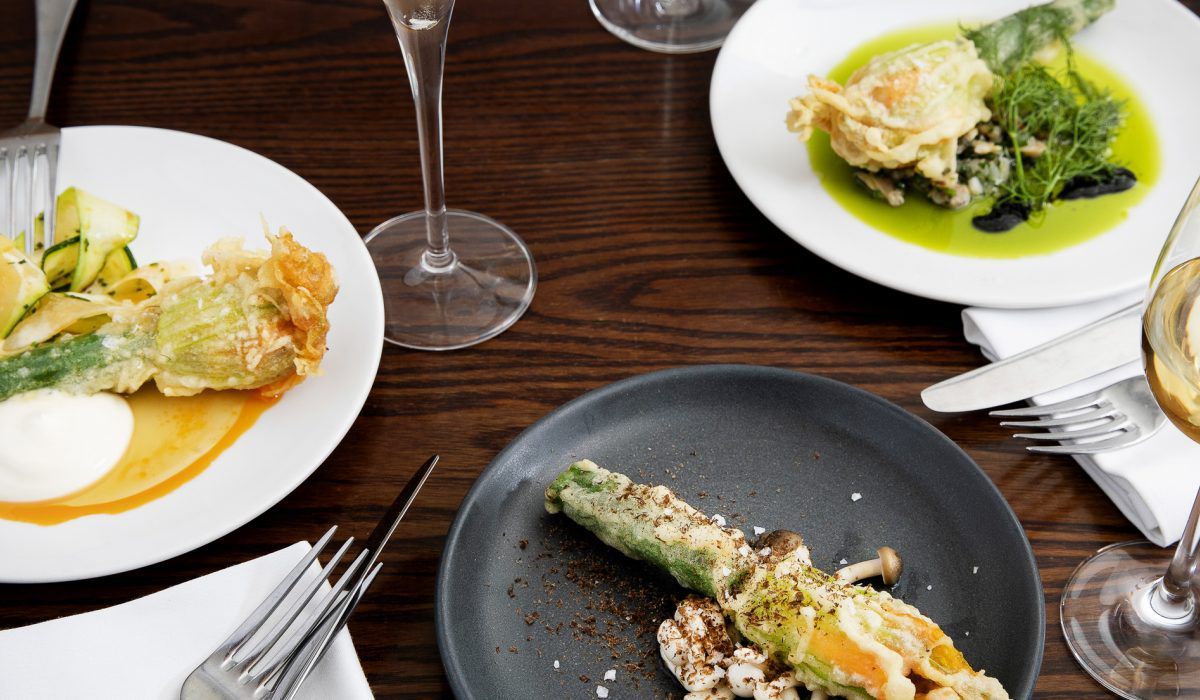 Courgette flowers at Salt Yard