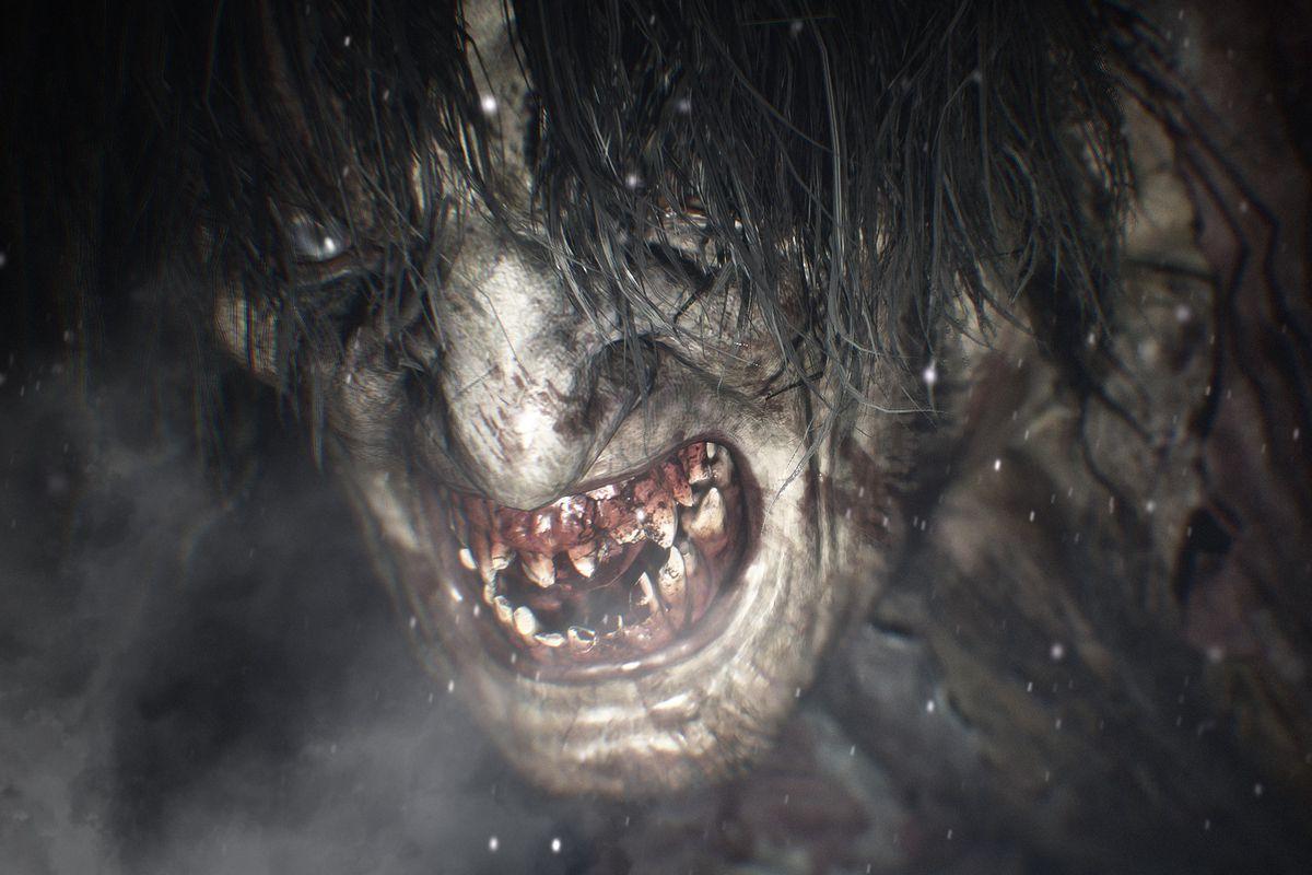 A monster in Resident Evil Village