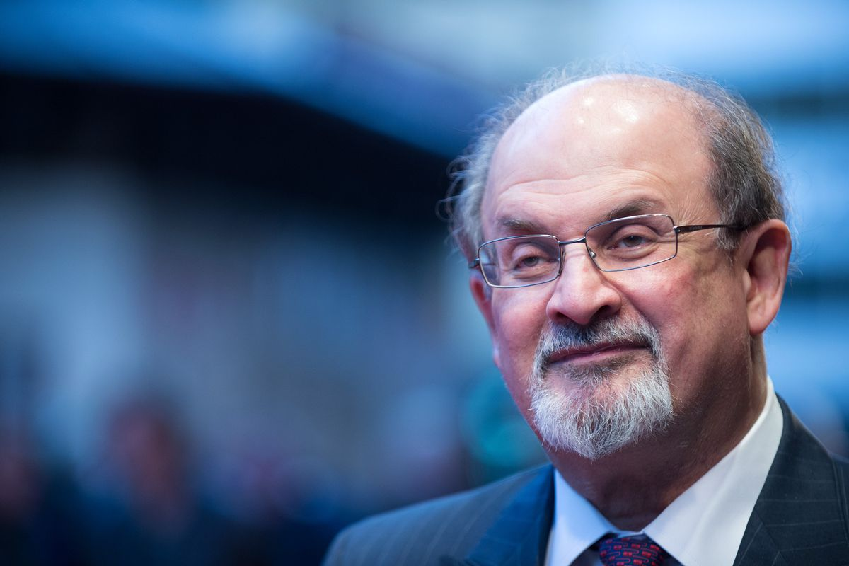 LONDON, ENGLAND - OCTOBER 14:  Salman Rushdie attends the premiere of Midnight's Children during the 56th BFI London Film Festival at Odeon West End on October 14, 2012, in London, England.  (Photo by Ben Pruchnie/Getty Images)