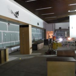 This is a second view of the 49ers locker room