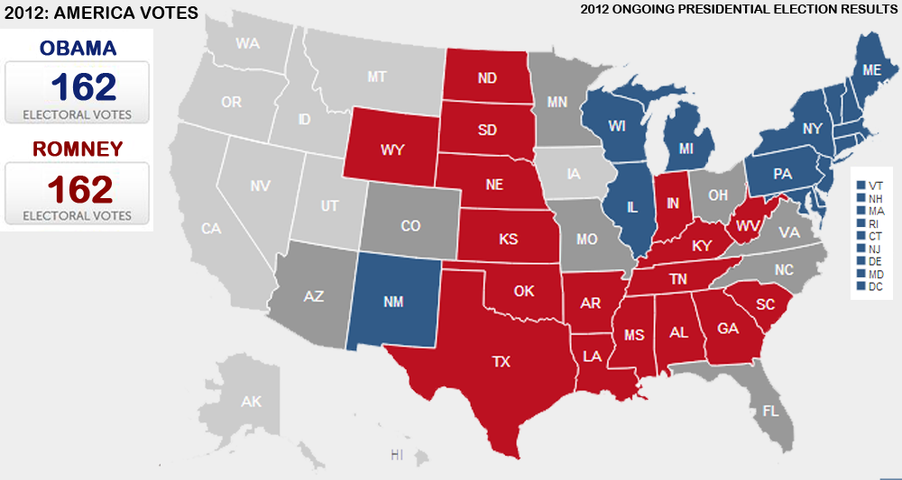 Presidential Election Vote Maps Gallery Cageside Seats - Us map electoral votes