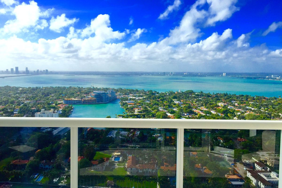 a bay view from a miami beach penthouse