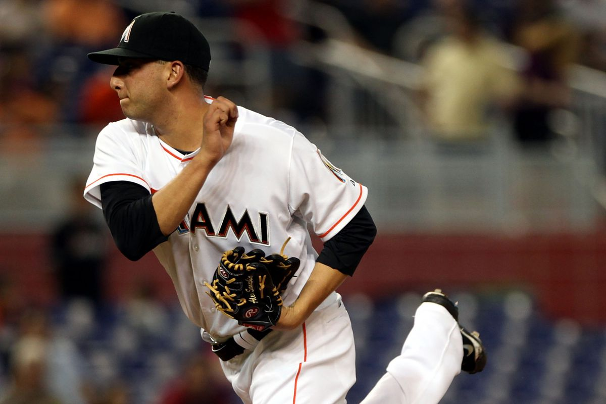 Miami Marlins starter Alex Sanabia is spinning quite the confusing season.