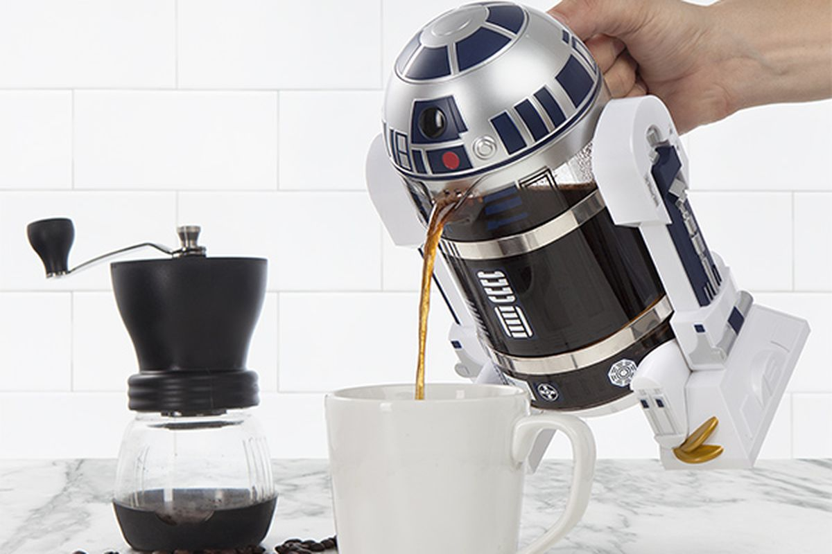 Droid coffee press
