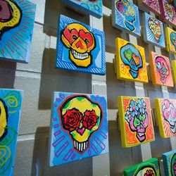 "More looks at the sugar skulls from Erni Vales. <span class=""credit""><em>[Photo: <a href=""http://www.jennadosch.com/"">Jenna Dosch</a>]</em></span>"