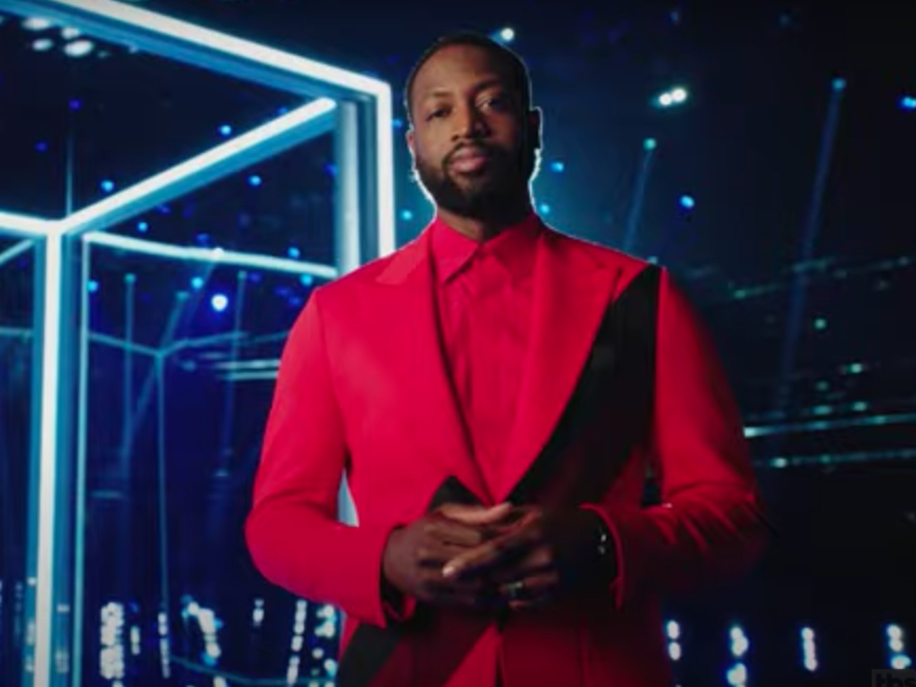 """Former NBA star Dwyane Wade hosts game show """"The Cube"""" on TBS."""