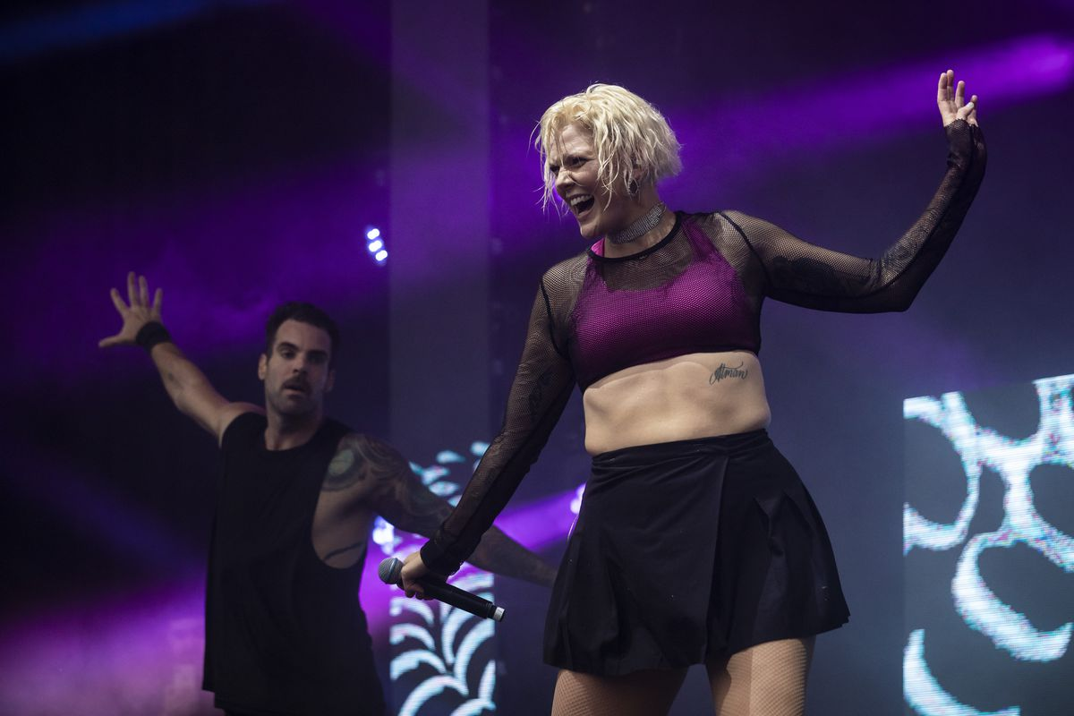 Betty Who performs Saturday night at Pride in the Park in Grant Park.