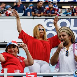 June 18, 2019 - Saint Paul, Minnesota, United States - Panama fans dance in the stands during the Panama vs Trinidad and Tobago match at Allianz Field.