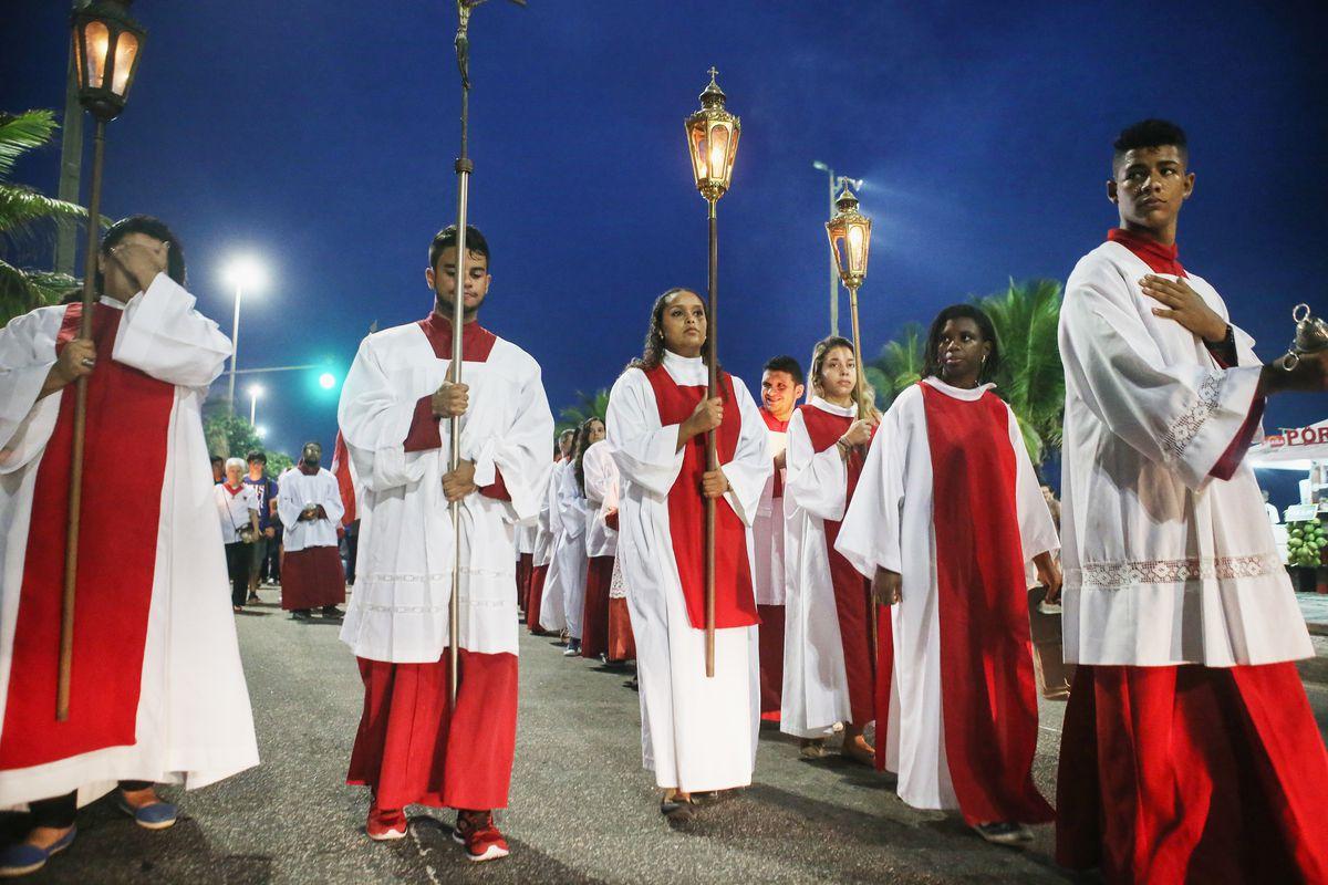 Semana Santa Celebrated Ahead Of Easter In Brazil