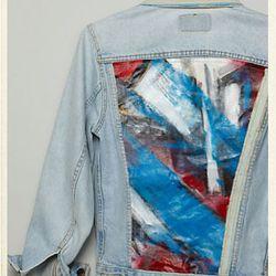 "<a href=""http://us.anthropologie.com/anthro/catalog/productdetail.jsp?id=25663279&parentid=CLOTHES-MIK-11&navCount=96&navAction=jump""><b>Swarm</b> KKunstenaar Jacket, Patriotic Angles</a>, $388</a>"