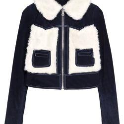 Suede & Steiff fur jacket, $395