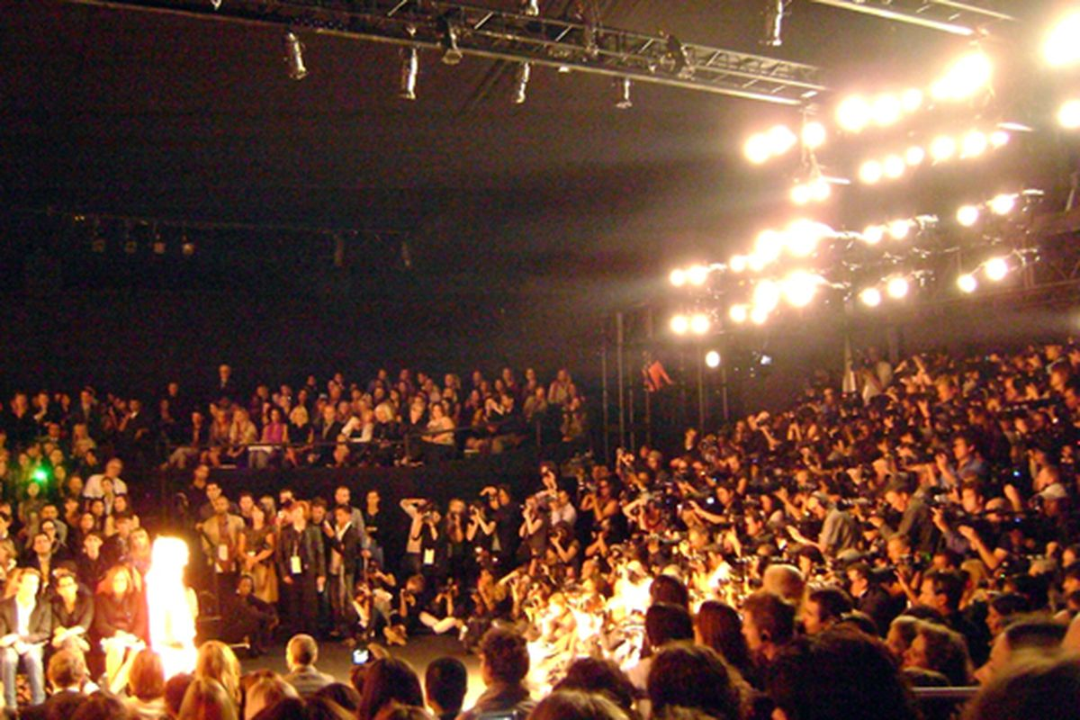 The pit at Anna Sui yesterday