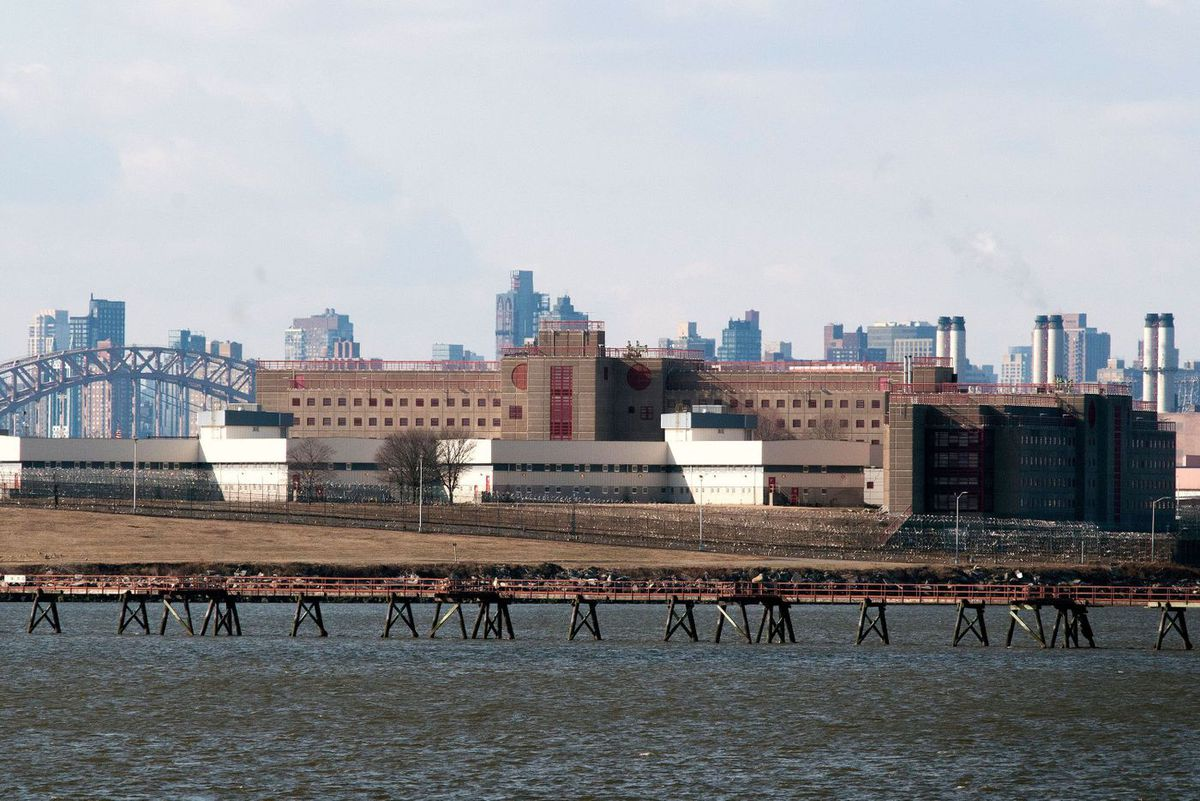 Rikers Island Jail.
