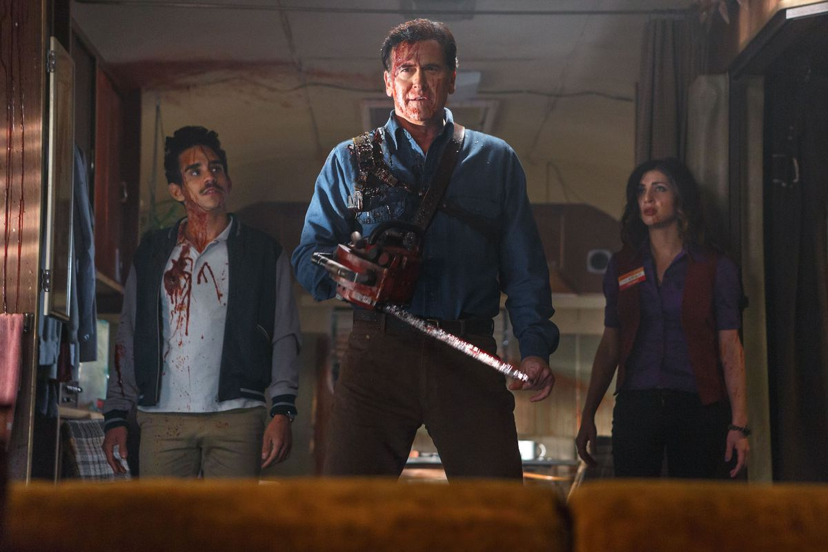 Bruce Campbell reprises the role of Evil Dead's Ash in a new Starz TV series that continues the franchise.