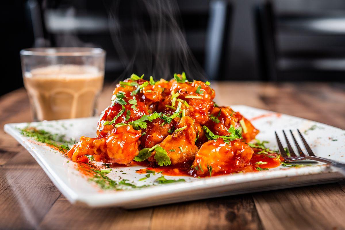 Indo-Chinese cauliflower from Bombay Street Food
