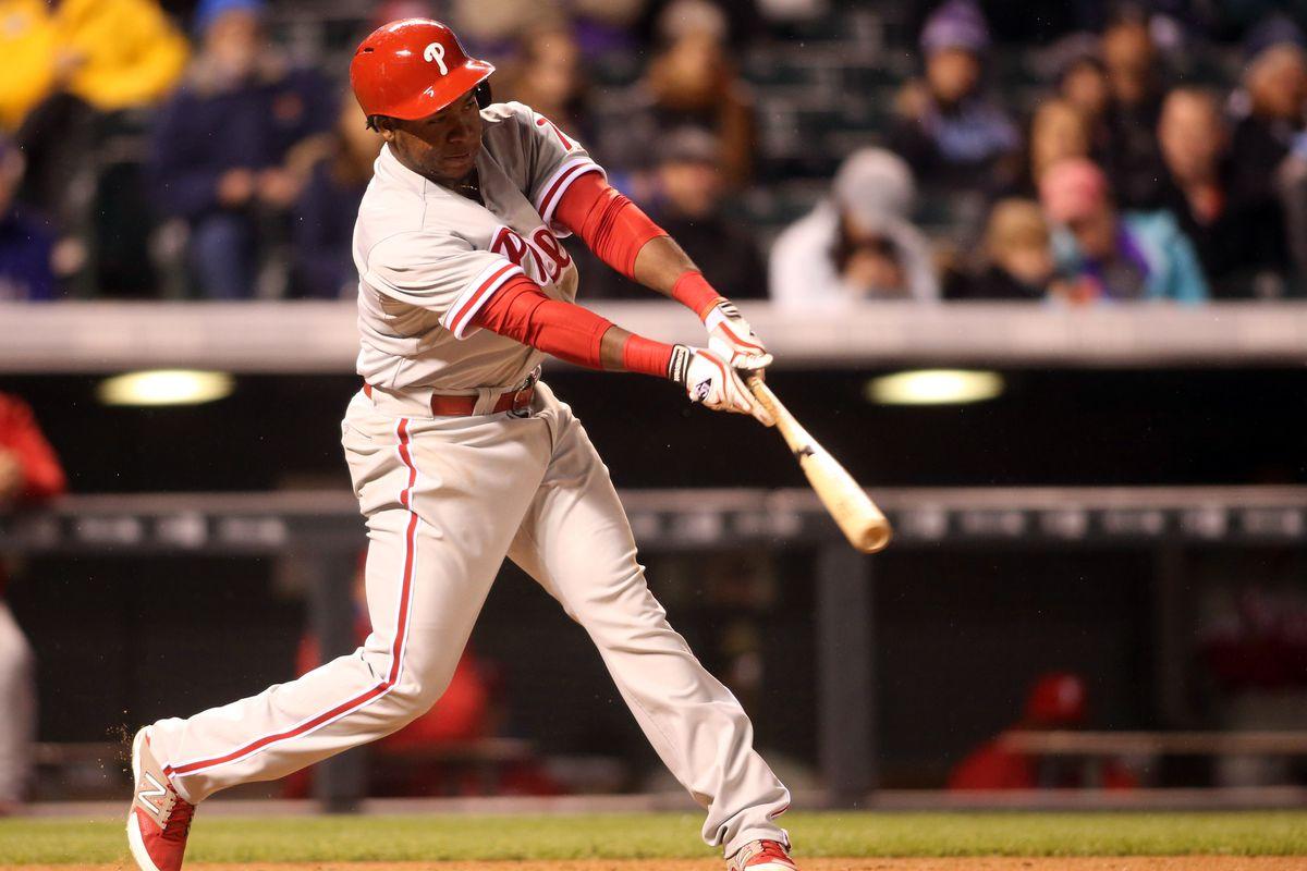 Maikel Franco: crushing baseballs like he do.