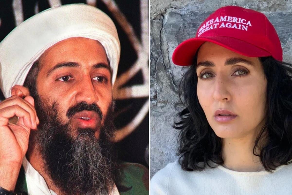 Osama bin Laden and his niece Noor Bin Ladin