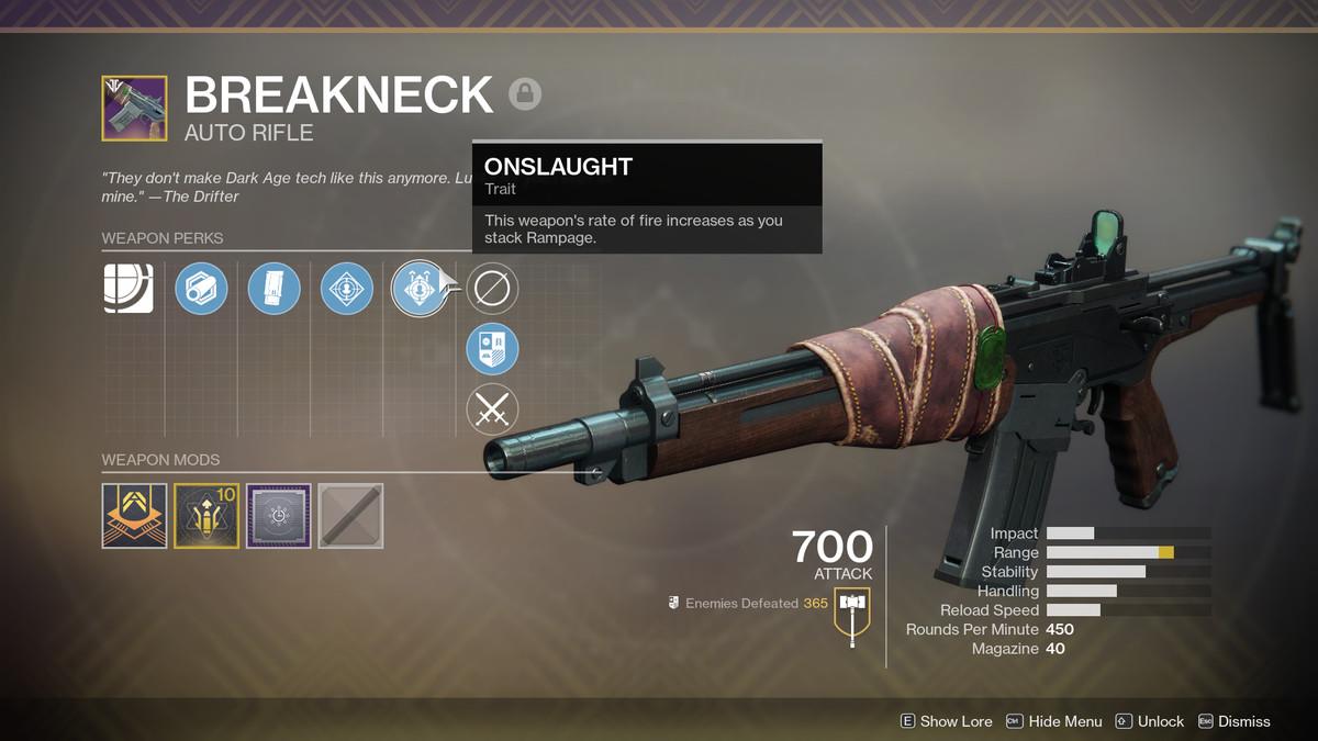 Destiny 2 Breakneck