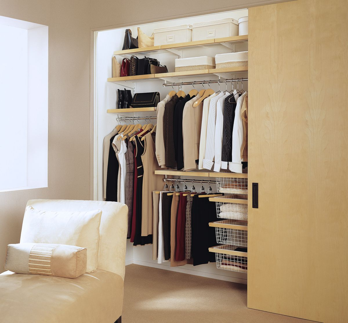 Semi-Custom System Options when planning to redo your bedroom closet