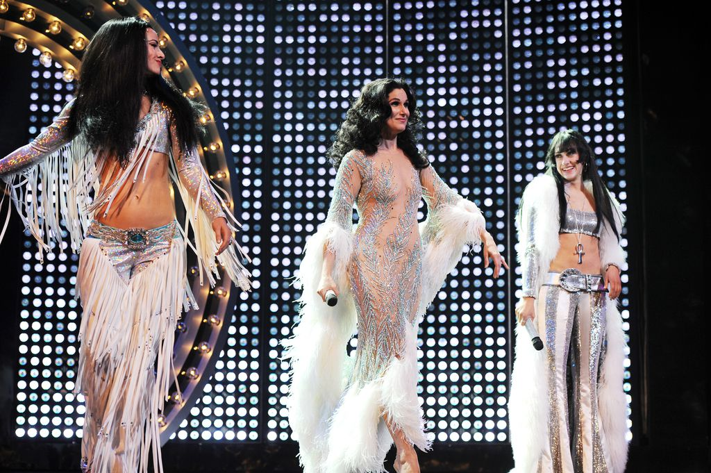 """Teal Wicks (from left), Stephanie J. Block and Micaela Diamond star as the title character in the pre-Broadway premiere of """"The Cher Show,"""" now playing at the Oriental Theatre in Chicago. 