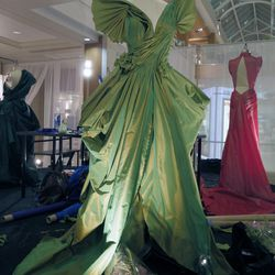 FIDM student and emerging designer Leetal Platt's green gown.