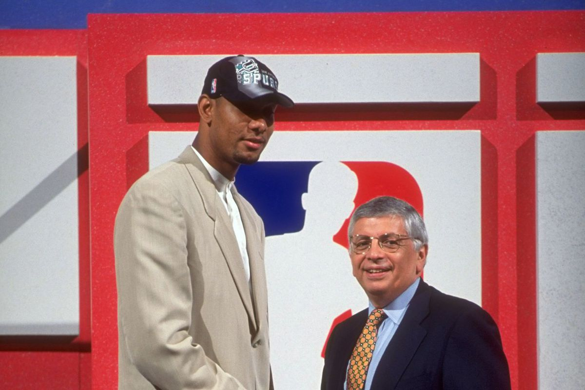San Antonio Spurs Tim Duncan, 1997 NBA Draft