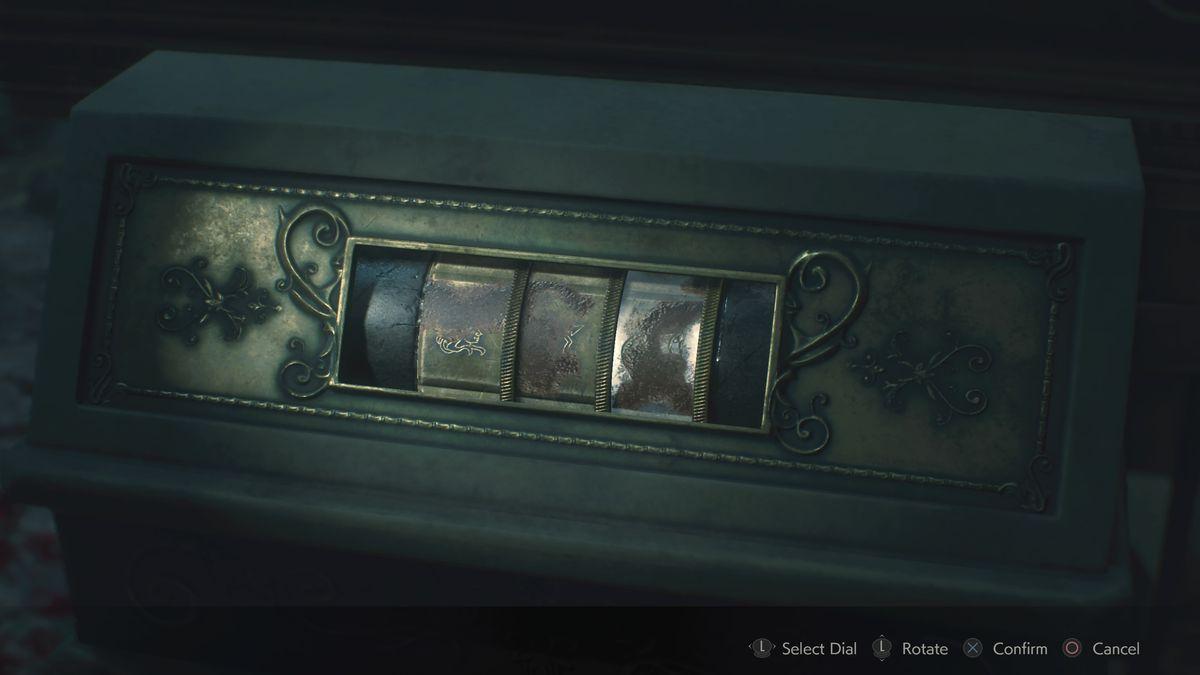 Resident Evil 2 West Storage Room Maiden Medallion puzzle solution