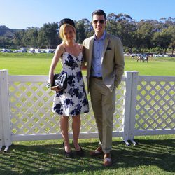 Lauren Storm in a Forever 21 dress and Chinese Laundry heels; Zachary Hopkins in J. Crew.