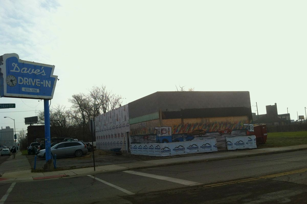 The former Dave's Drive-in is being renovated for a third Bucharest Grill location.