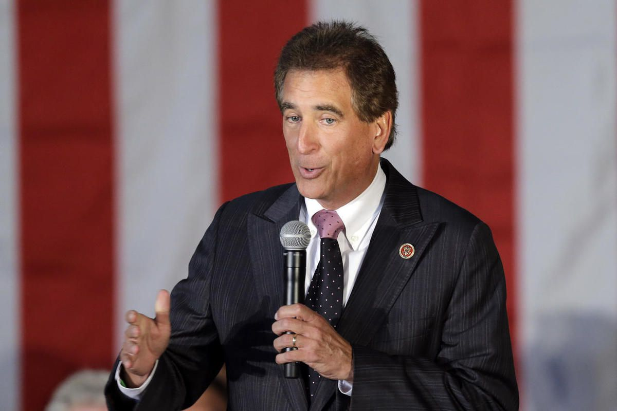 FILE – In this Sept. 29, 2014, file photo, Rep. Jim Renacci, R-Ohio, speaks in Independence, Ohio. Churches should have the First Amendment right to endorse political candidates and still keep their tax-free status, say House Republicans, who quietly tuck