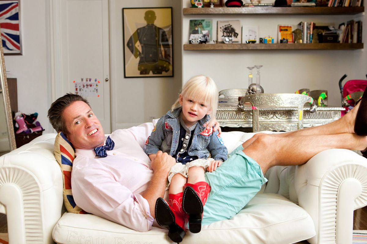 Photographer Ben Watts, one of Park & Bond's most stylish men, with his adorable daughter