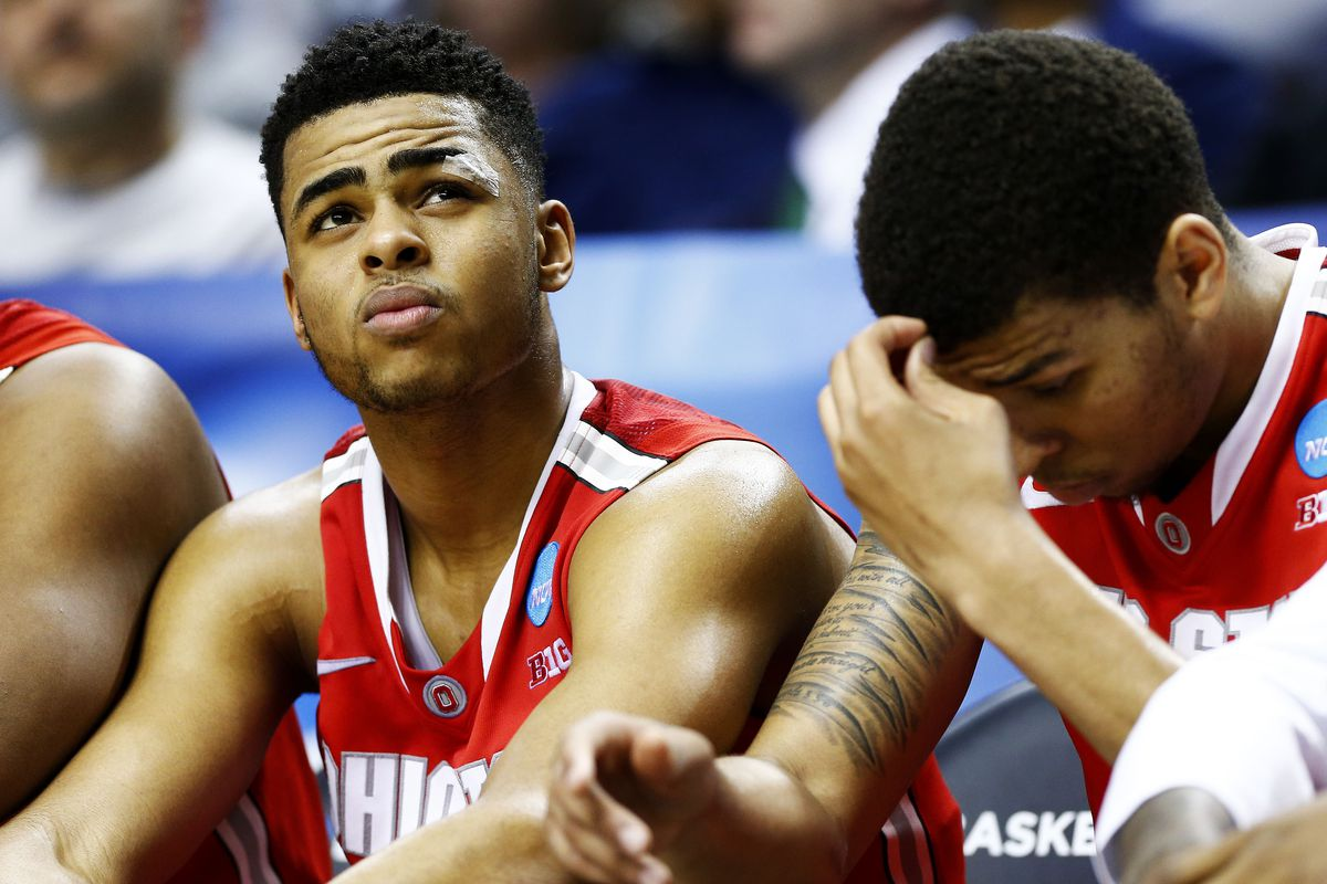 D'Angelo Russell will have this same look on his face when the Sixers are on the clock at No. 3.