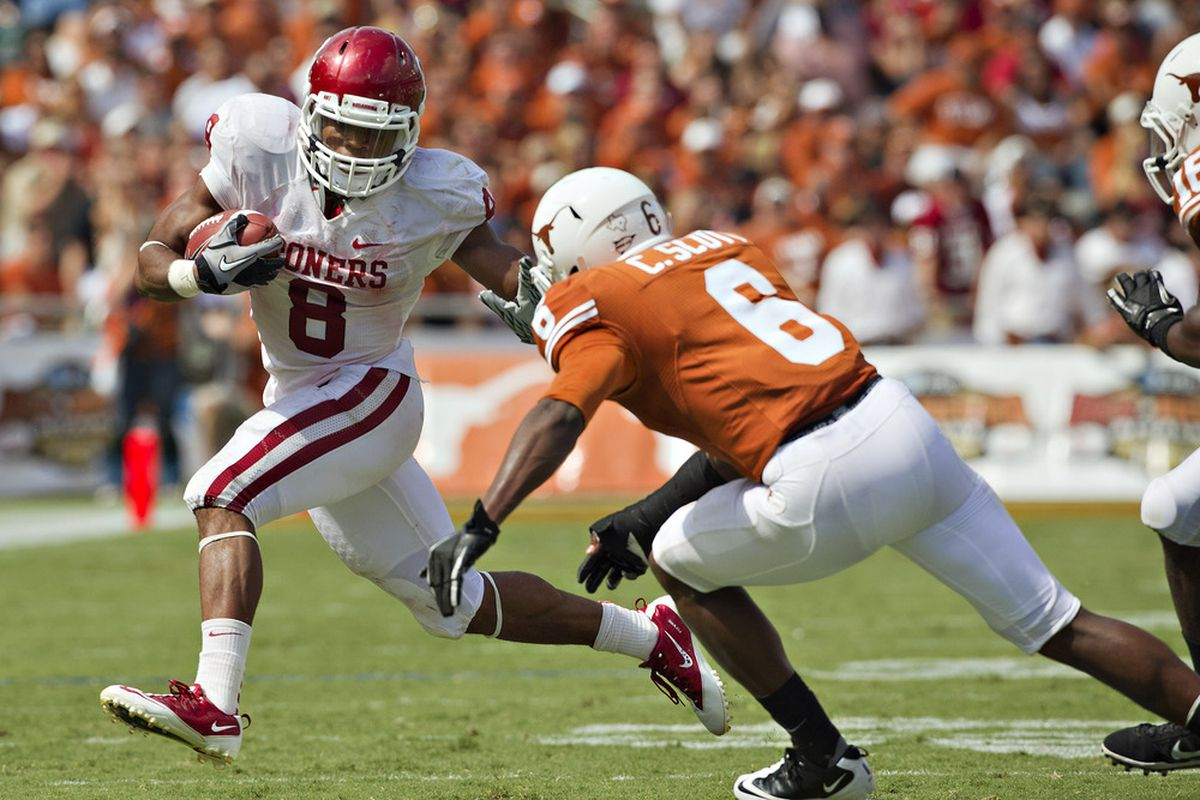 Is it that rare year where OU vs. Texas isn't the biggest game on the Big 12 schedule?  (Photo by Wesley Hitt/Getty Images)