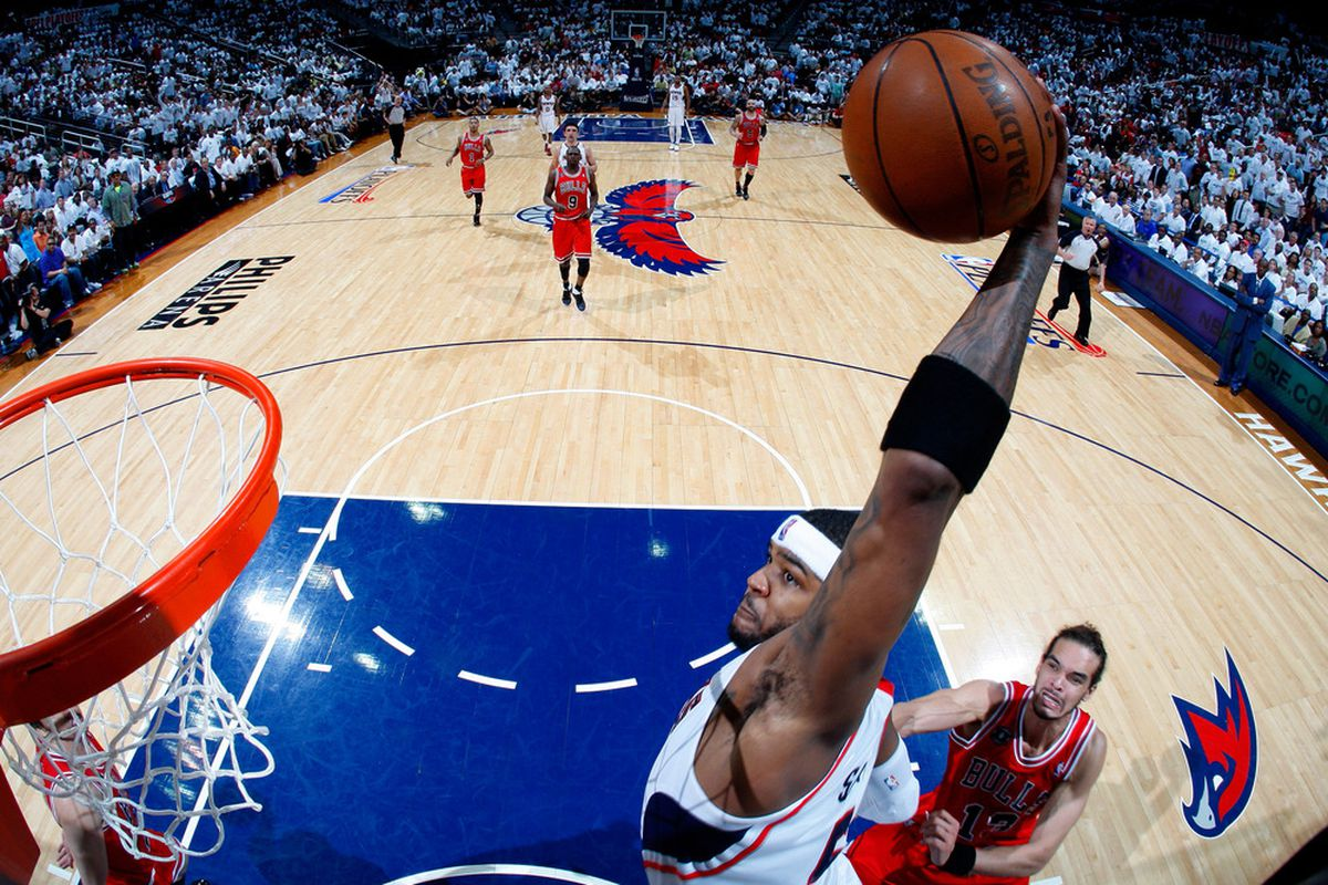 Will Josh Smith and the Atlanta Hawks fly high in 2011-12?  (Photo by Kevin C. Cox/Getty Images)